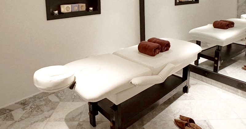 Salle de massage du riad alma à Marrakech
