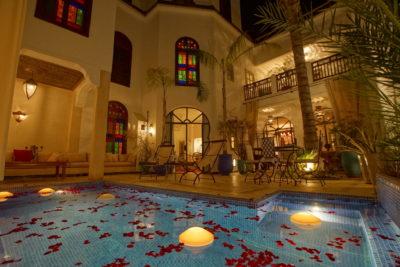 Piscine dans la Médina de Marrakech