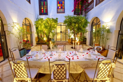 Repas soir au riad luxe Marrakech