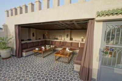 Terrasse jour dans la Médina de Marrakech