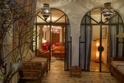 salon intérieur riad Marrakech